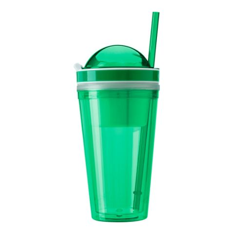 Snack Mug With Straw & Extra Compartment