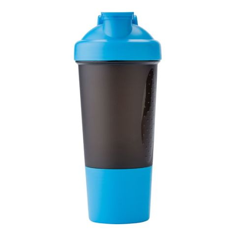 Plastic Protein Shaker (500Ml)  Light Blue | Without Branding