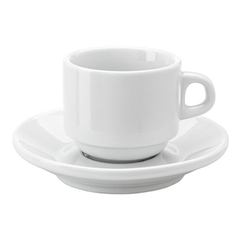 Stackable Porcelain Cup & Saucer (130Ml)