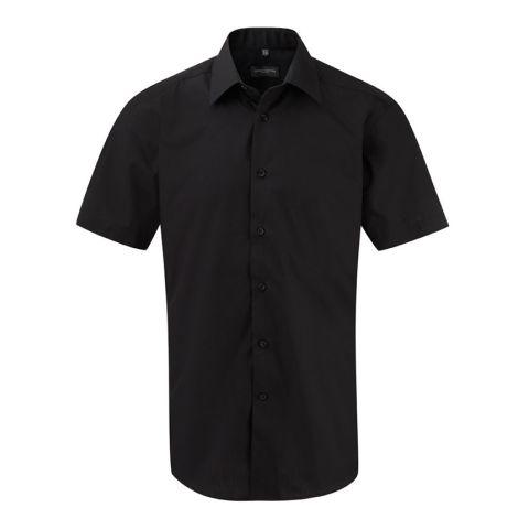 Short Sleeved Tapered Popeline Shirt