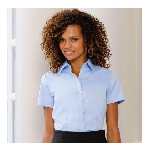 Herringbone Shirt for Women Short Sleeve