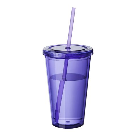 Cyclone Tumbler & Straw Transparent - Violet | Without Branding