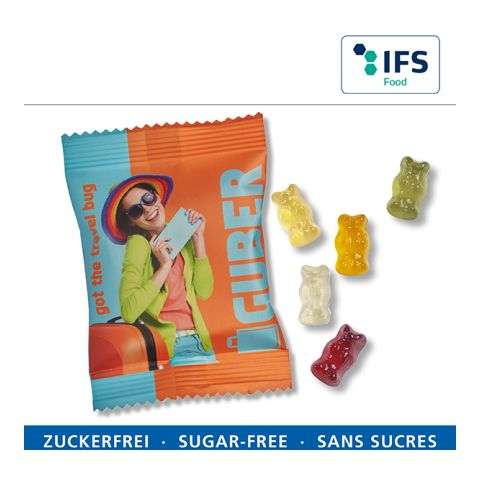 Sugar-free fruit gum bears