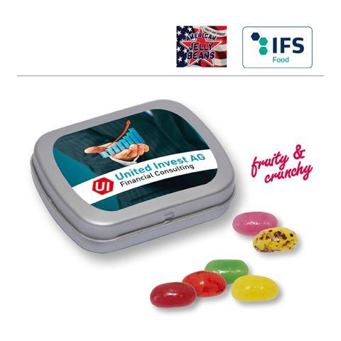 MINI tin with hinged lid with American Jelly Beans