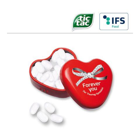 Heart tin with tic tac