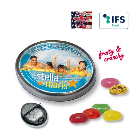 Snap-Master tin with American Jelly Beans