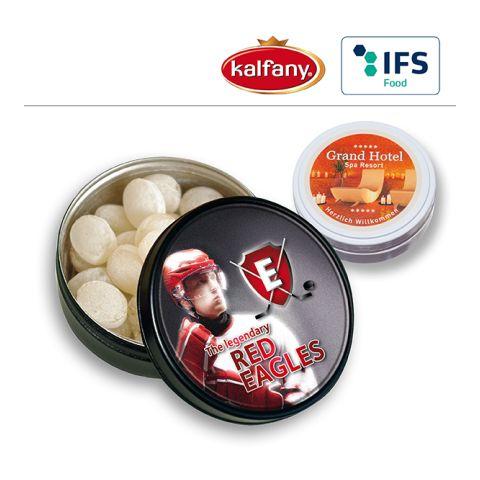 Black or White tin with Kalfany Ice candies
