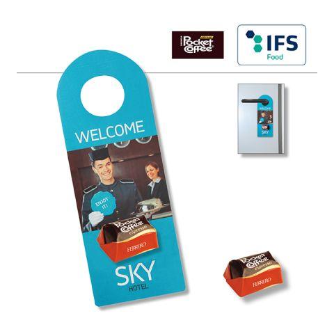 Promo Door-Tag with Pocket Coffee