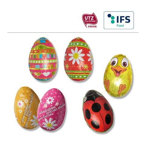 Chocolate half egg standard motifs