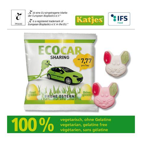 Veggie Green-Ear-Bunny, Katjes, with compostable bag