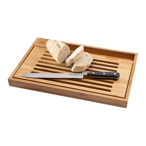 Bistro Cutting Board With Bread Knife  Beige | Without Branding