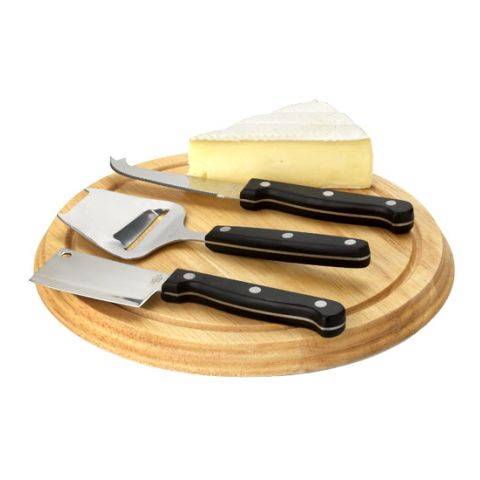 4-Piece Cheese Gift Set  Brown | Without Branding